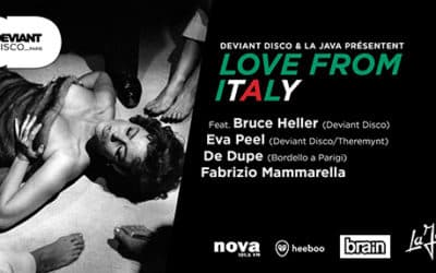 Friday 01.06.2018 –  Deviant Disco présente Love from Italy