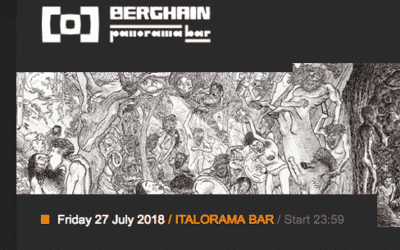 Friday 27.07.2018 – Franz Scala at Berghain – Panorama bar