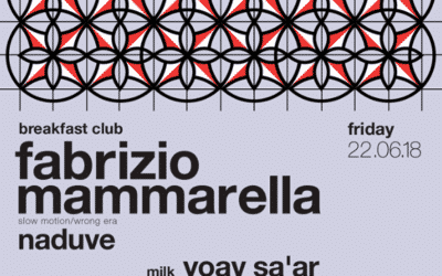 Friday 22.06.2018 – Fabrizio Mammarella at Breakfast Club